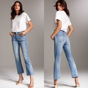 Aritzia Denim Forum Bailey High Rise Crop Flare 31